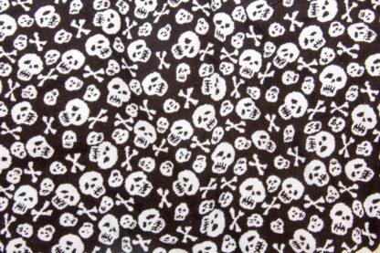 tete de mort noir et blanc