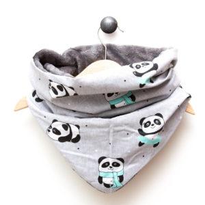 Snood Panda Gris Menthe