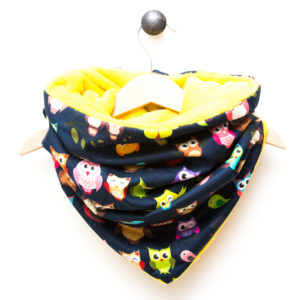 Snood hiboux Jaune