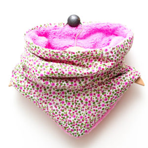Snood Fleuris Rose