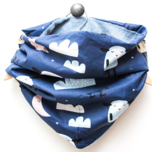 Snood Mouton Bleu Marine