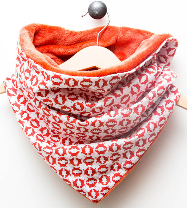 Snood Crabe Corail