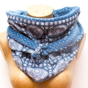 Chèche Mandala bleu paillettes