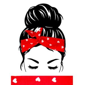Bandeau Cheveux Rouge Coeur