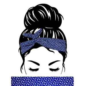 Bandeau Cheveux Bleu Graphique