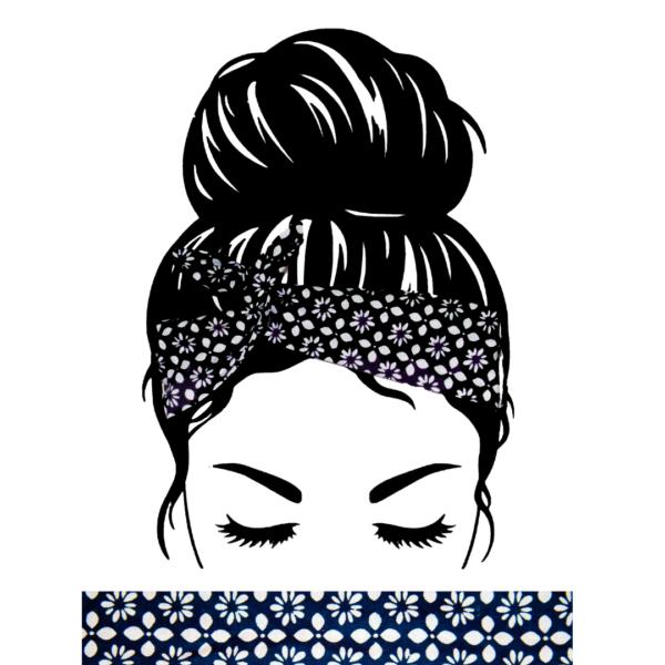 Bandeau Cheveux Marine Blanc