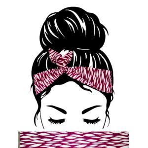 Bandeau Cheveux Aubergine