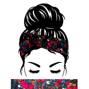 Bandeau Cheveux Fleurs Fushia